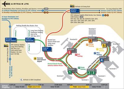 Схема аэропорта Джон Кэннеди