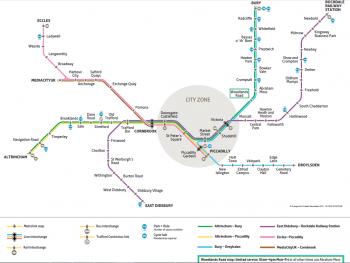Схема metrolink Манчестер