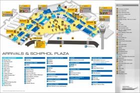 Схема аэропорта Schiphol