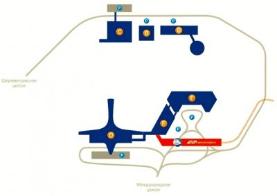 Схема Шереметьево