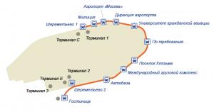 Схема автобусов Шереметьево