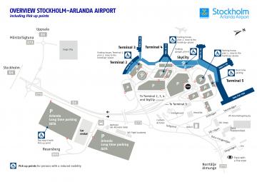 Схема аэропорта Stockholm-Arlanda