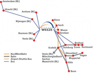 Схема аэропорта Weeze