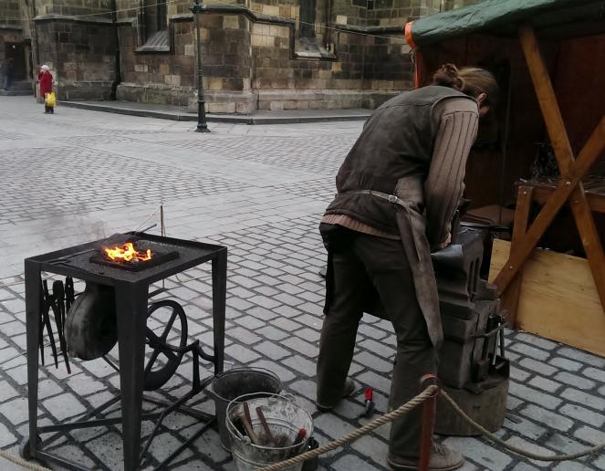 Кузнеца, работающий на центральной площади