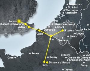 Eurostar web map